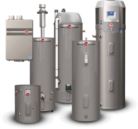 New Rheem Hot Water Heater-A Sterling Plumbing Columbus OH 43207
