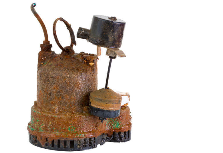 Old Rusted Sump Pump-A Sterling Plumbing Columbus OH 43207