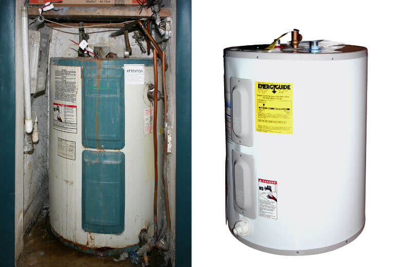 Water Heater Replacement Before & After-A Sterling Plumbing Columbus OH 43207